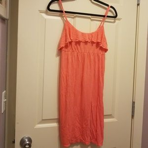 Peach/pink colored summer tank dress